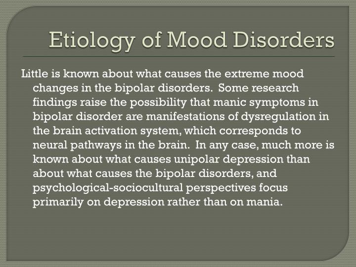 Etiology of Mood Disorders