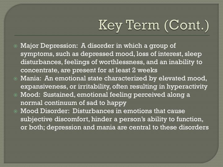 Key Term (Cont.)