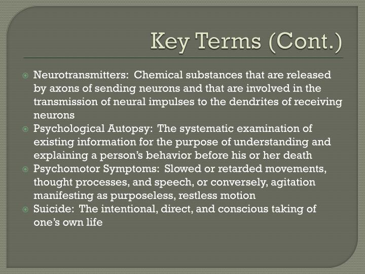 Key Terms (Cont.)
