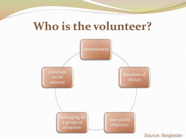 Who is the volunteer?