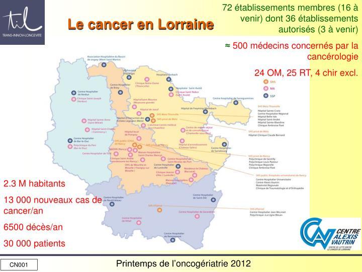 Le cancer en Lorraine