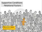 supportive conditions relational factors