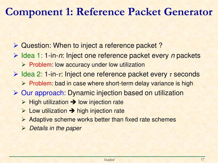 Component 1: Reference