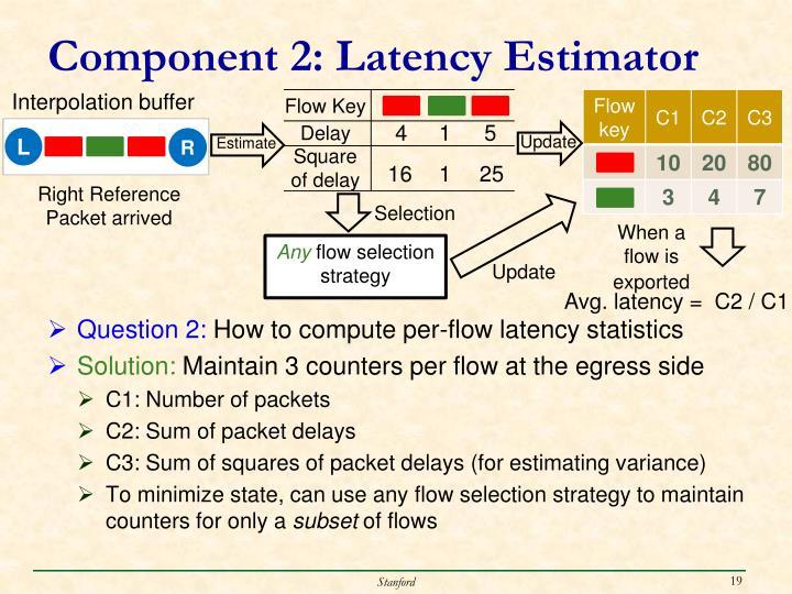 Component 2: Latency Estimator