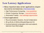 low latency applications1