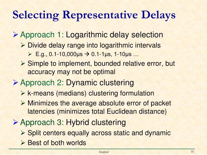 Selecting Representative Delays