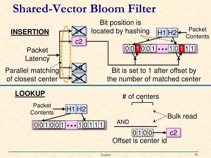 Shared-Vector Bloom Filter