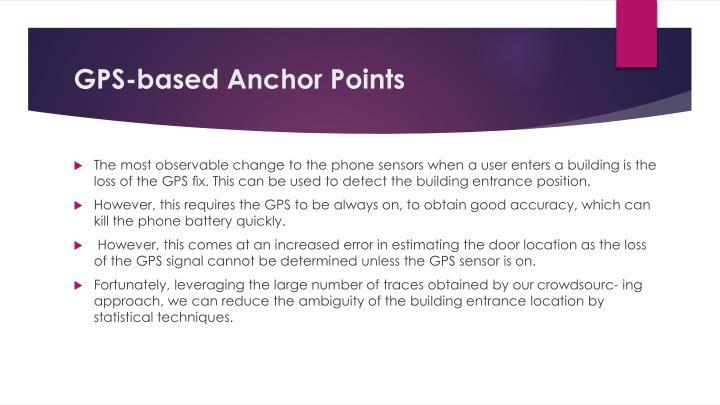 GPS-based Anchor