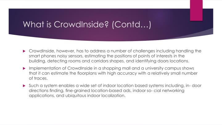 What is CrowdInside? (
