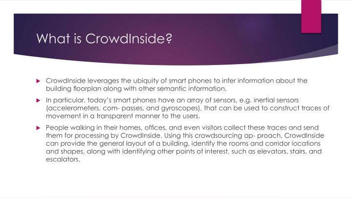 What is CrowdInside?