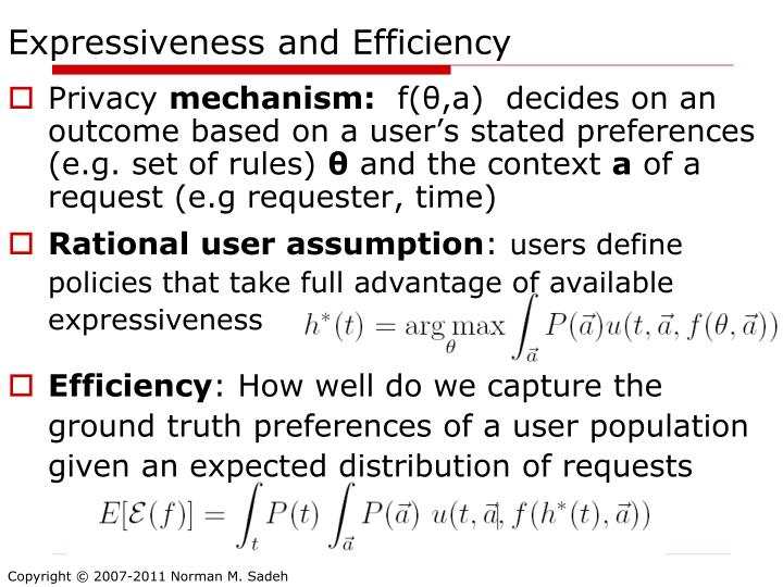 Expressiveness and Efficiency