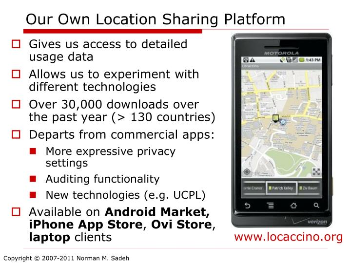 Our Own Location Sharing Platform