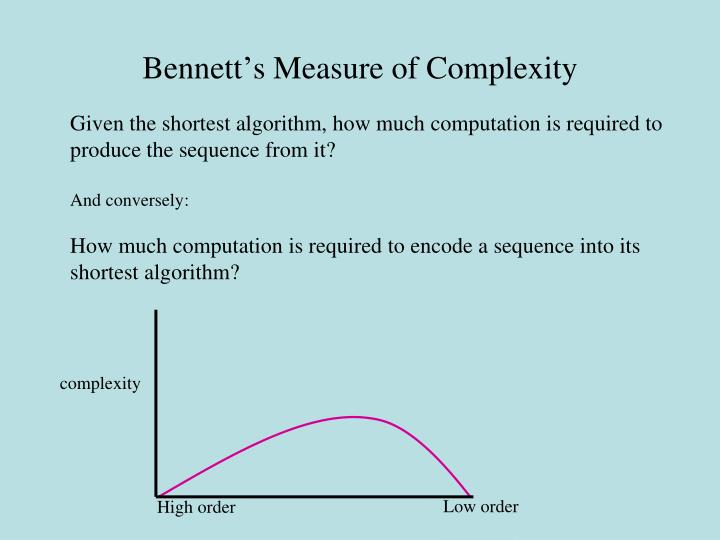 Bennett's Measure of Complexity