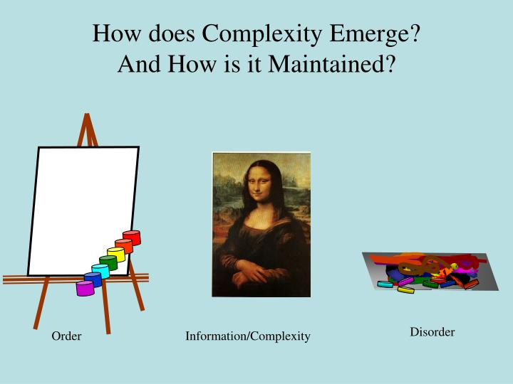 How does Complexity Emerge?