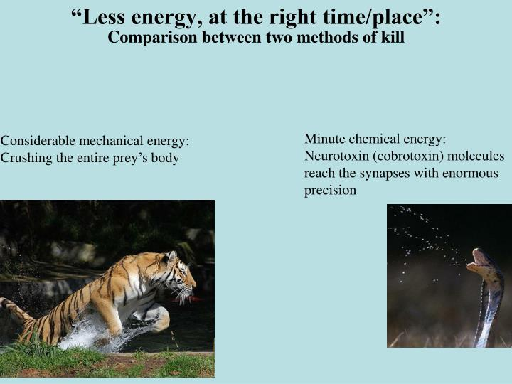 """Less energy, at the right time/place"":"