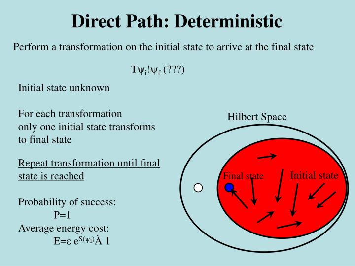 Direct Path: Deterministic
