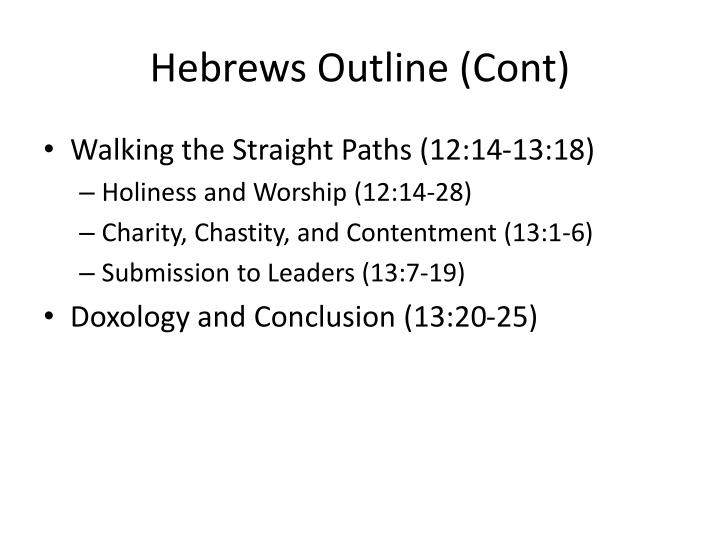 Hebrews Outline (