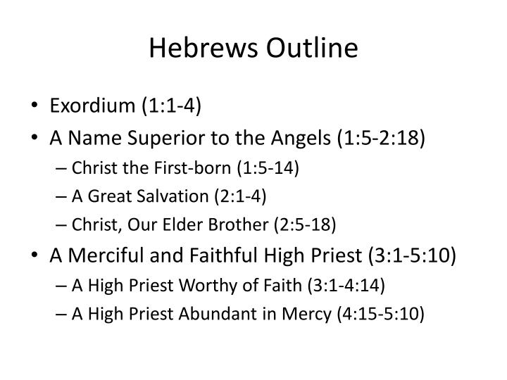Hebrews Outline