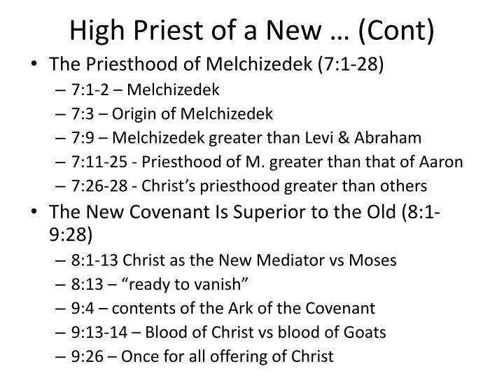 High Priest of a New … (