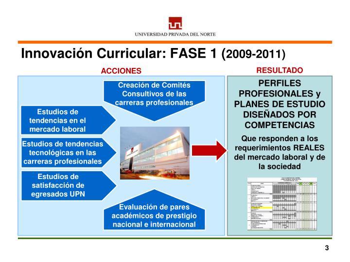Innovación Curricular: FASE 1 (