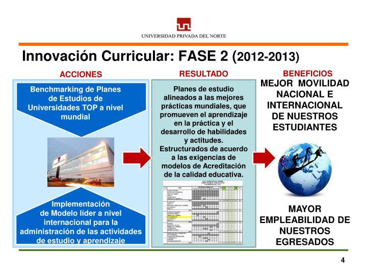 Innovación Curricular: FASE 2 (