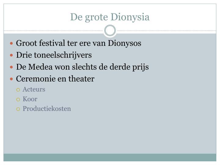 De grote Dionysia