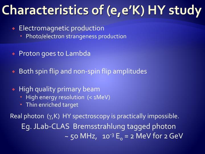 Characteristics of (