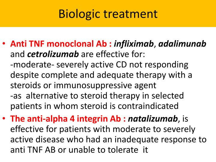 Biologic treatment