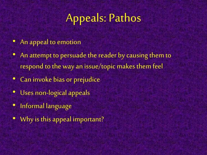 Appeals: Pathos