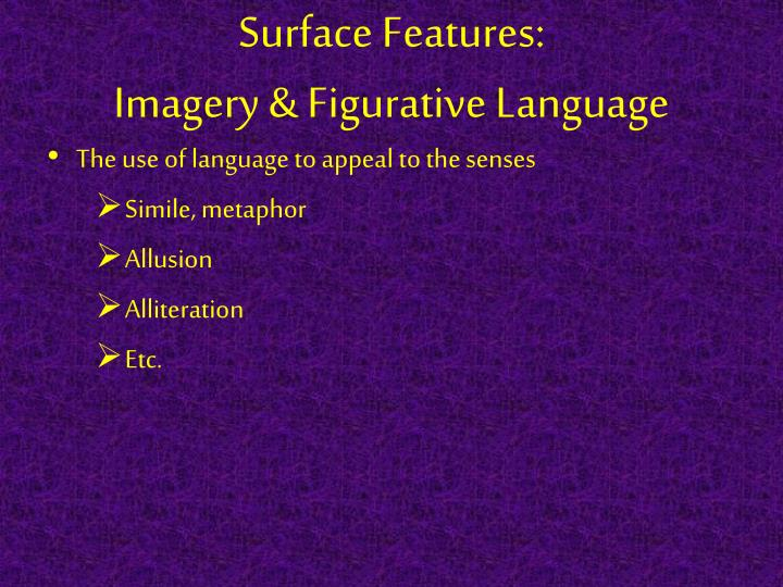 Surface Features: