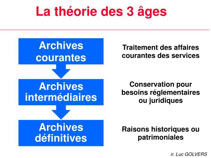 La théorie des 3 âges