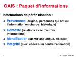 oais paquet d informations1