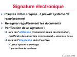 signature lectronique