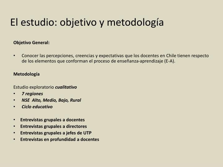 El estudio: objetivo y metodología