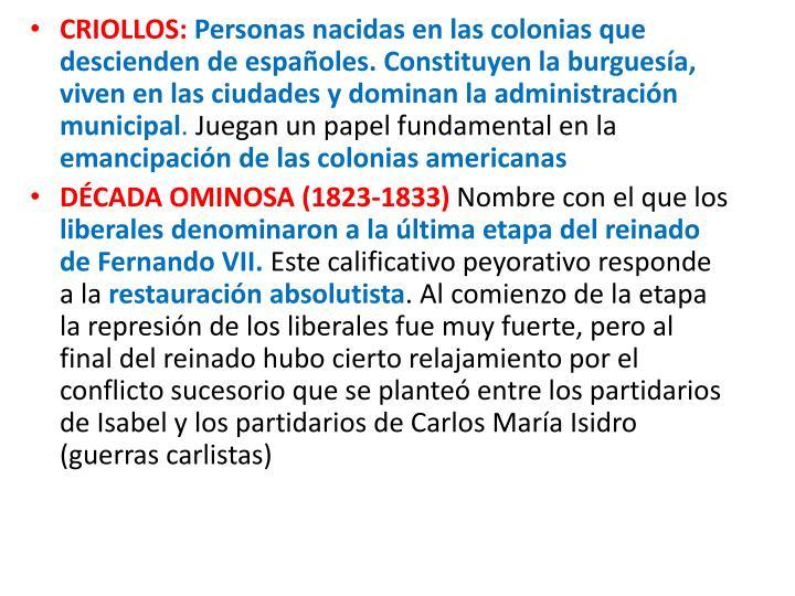 CRIOLLOS: