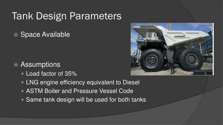 Tank Design Parameters