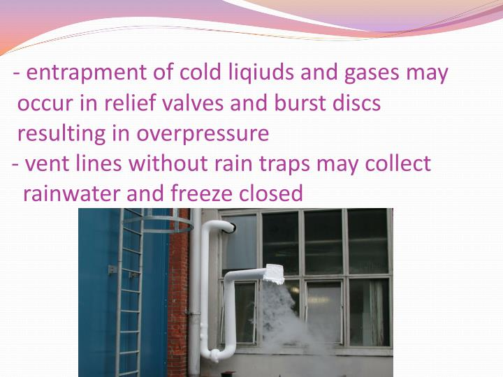 - entrapment of cold