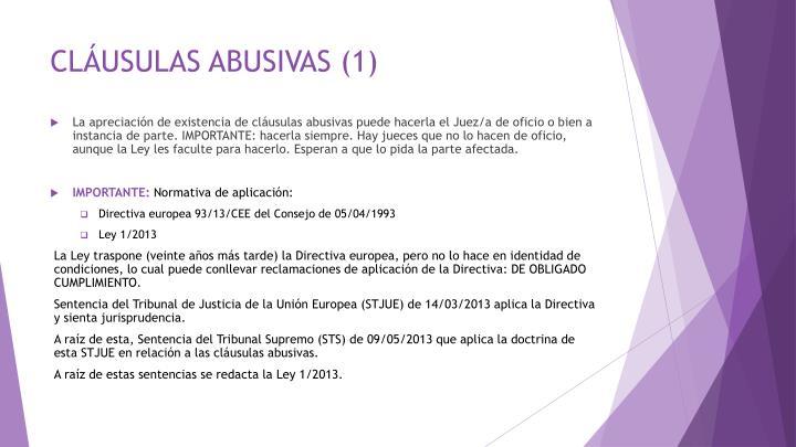 CLÁUSULAS ABUSIVAS (1)