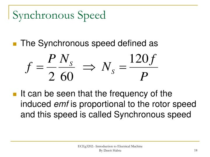 Synchronous Speed