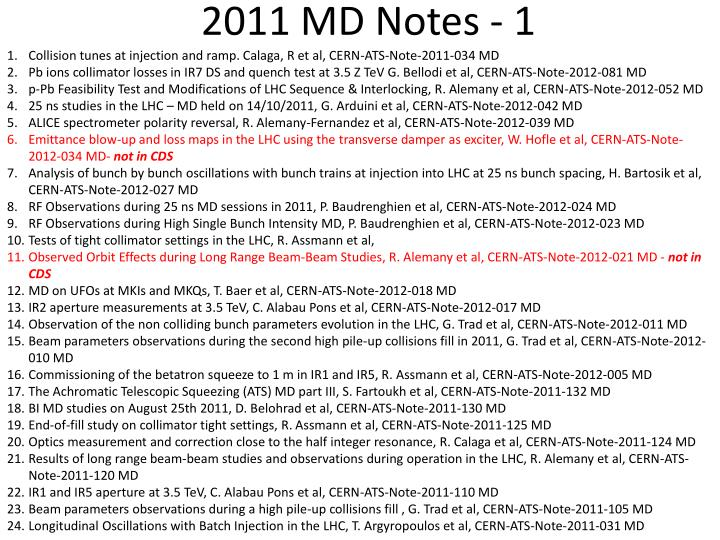 2011 MD Notes - 1