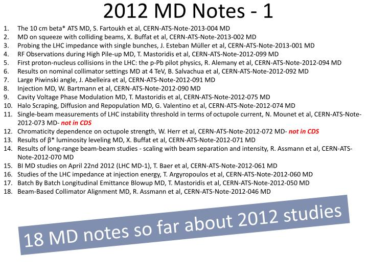 2012 MD Notes - 1