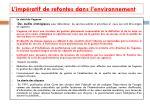 l imp ratif de refontes dans l environnement