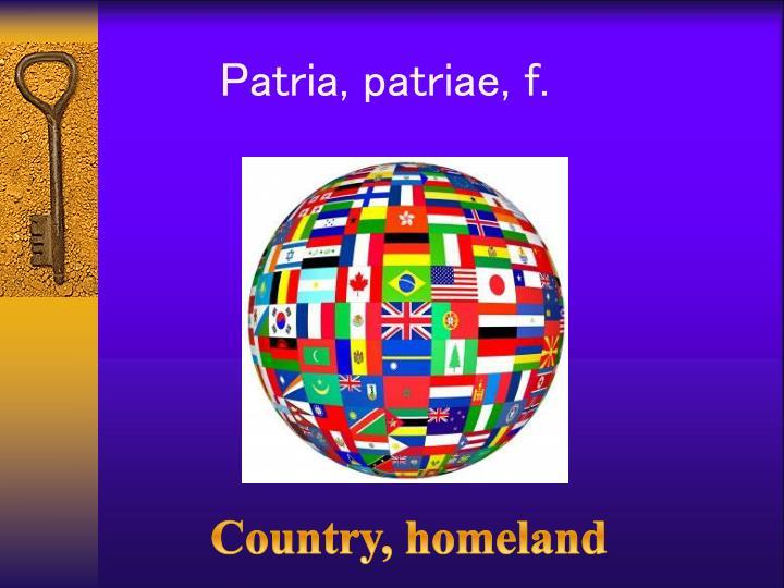 Patria,