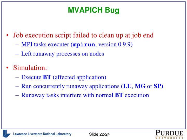 MVAPICH Bug