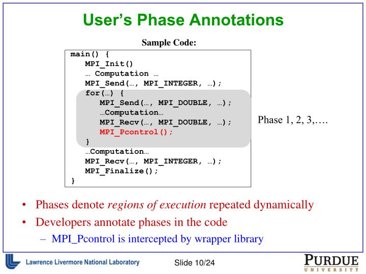 User's Phase Annotations