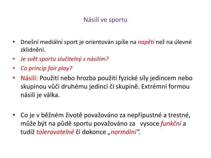 Násilí ve sportu