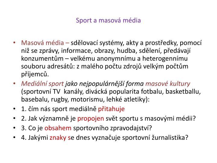 Sport a masová média