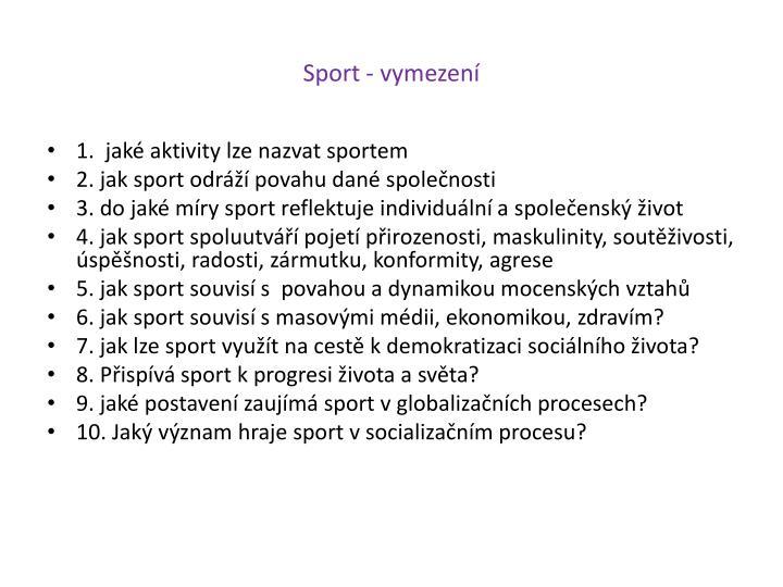 Sport - vymezení