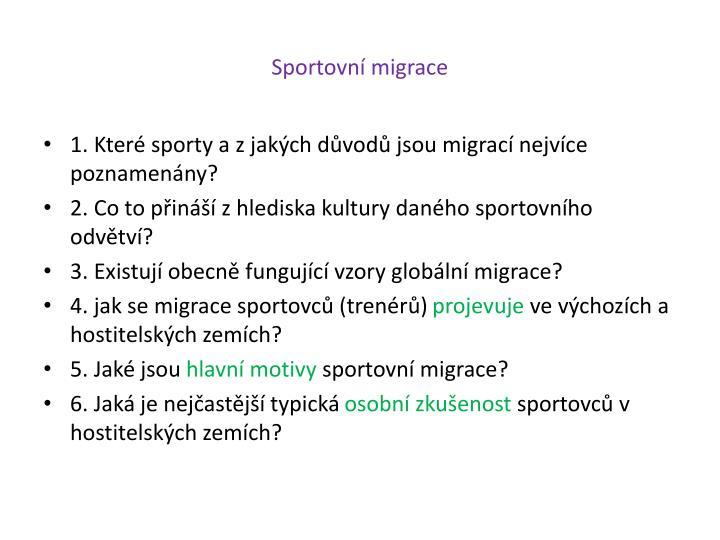 Sportovní migrace