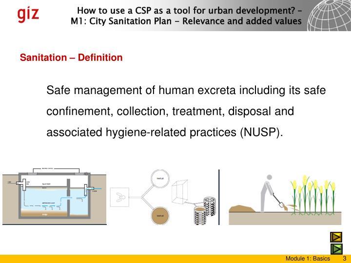 Sanitation – Definition